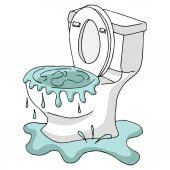 Clogged Overflowing Toilet