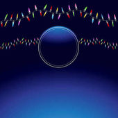 An image of a Wavy Christmas Light String Background