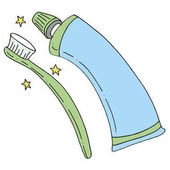 Toothbrush and Toothpaste Tube