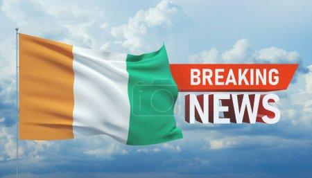 Photo pour Dernières nouvelles concept moderne. Arrière-plan avec drapeau de Côte Ivoire . - image libre de droit