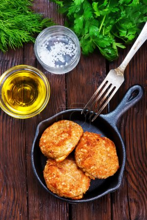 chicken cutlets on pan