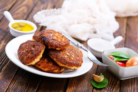 cutlets on white plate