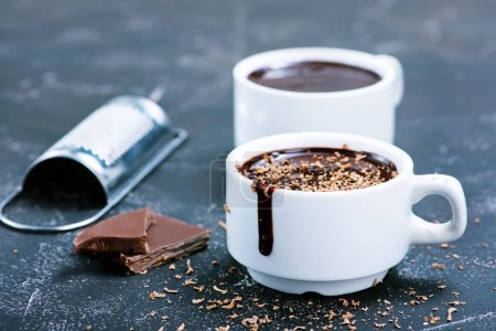 hot chocolate in cups
