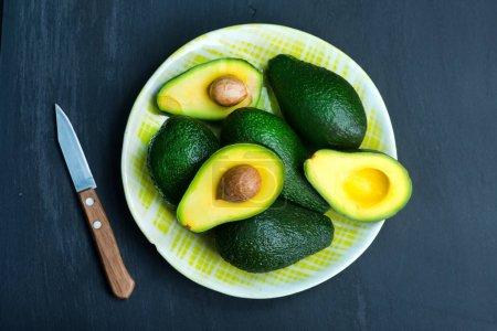 fresh avocados on a table