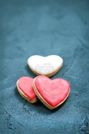 Sweet cookies, hearts