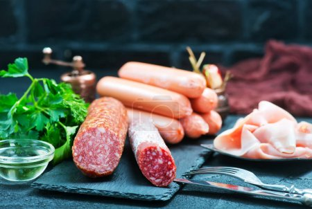 mix sausages on board