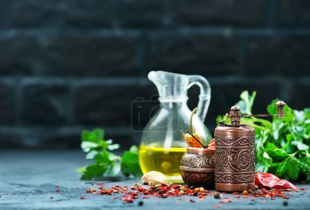 spices and aroma oil