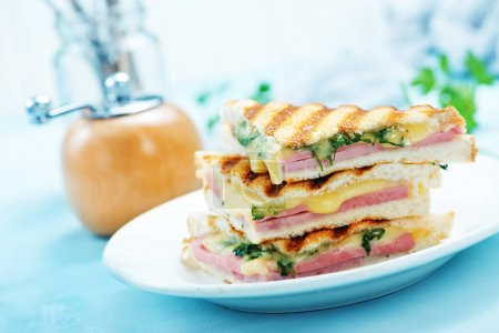 sandwiches on white plate