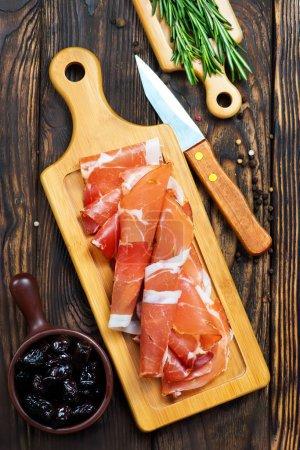Tasty spanish ham