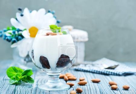 sweet desert with cream