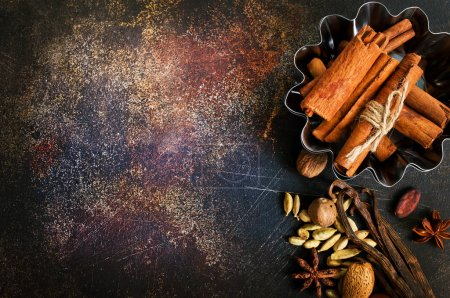 aroma spices on table