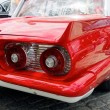 Постер, плакат: Kharkiv Ukraine May 28 2017: Tail fin and rear lights of retro car Ford Thunderbird manufactured in 1959 is presented at the festival of vintage cars Kharkiv Retro Rally 2017 in Kharkiv Ukraine on May 28 2017