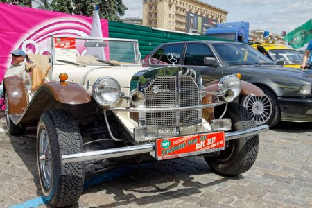Kharkiv, Ukraine - May 28, 2017: Retro car Mercedes-Benz Gazelle manufactured in1926 (replicar) is presented at the festival of vintage cars Kharkiv Retro Rally - 2017 in Kharkiv, Ukraine on May 28, 2017