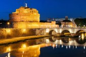 Castel Sant Angelo and River Tiber Rome