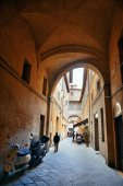old buildings and archway in Siena