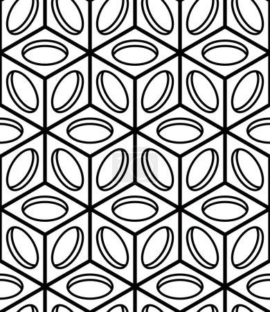 Illusive continuous monochrome pattern