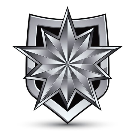 Sophisticated blazon with silver star