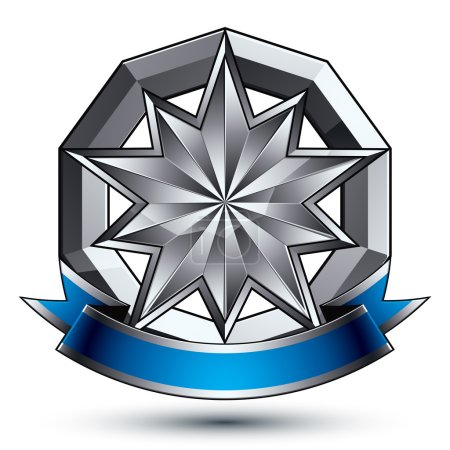 Aristocratic badge with silver star