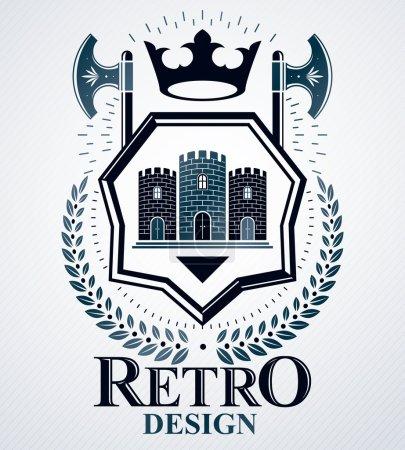 Heraldic signs vector vintage elements....