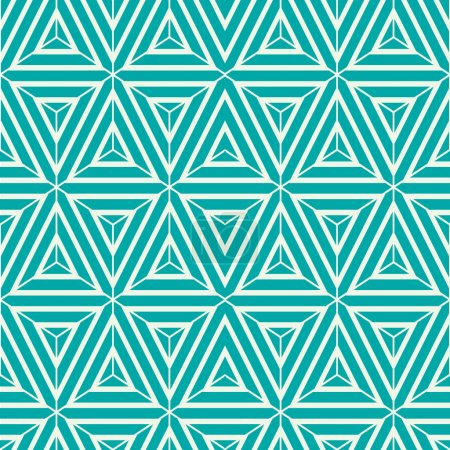 Graphic simple ornamental tile pattern