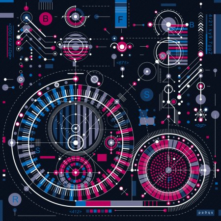 Architectural blueprint digital background