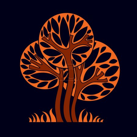 Artistic stylized trees