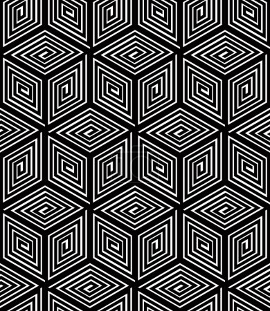 Endless monochrome symmetric pattern