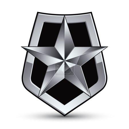 Glamorous pentagonal silver star