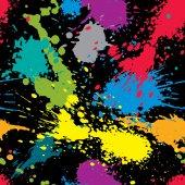 Colorful splattered web design pattern