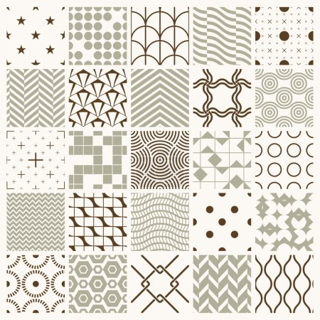 Set of endless geometric patterns