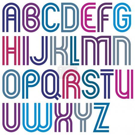 Cartas mayúsculas coloridas