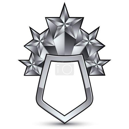 3d heraldic template with pentagonal stars
