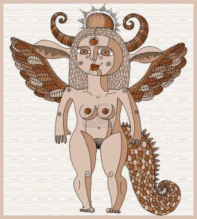 Artistic nude woman myth creature