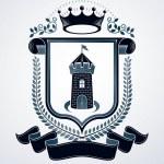 Vintage emblem, vector heraldic design....