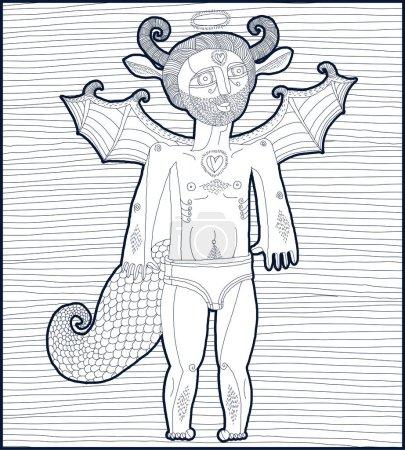 Abstract myth male human character