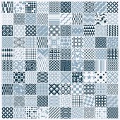 Graphic ornamental tiles collection set of monochrome vector repeated patterns Vintage art abstract textures