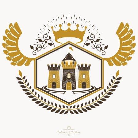 Vintage heraldry design template