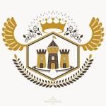 Vintage heraldry design template, vector emblem....