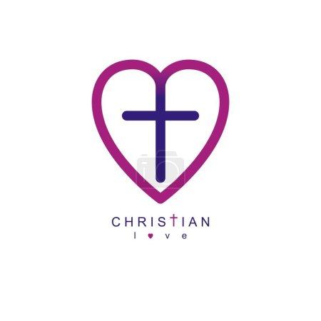 Love of God conceptual symbol