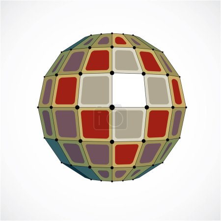 3d low poly spherical object