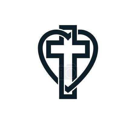 God Christian Love conceptual logo