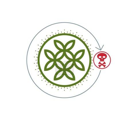 Life and Death conceptual logo
