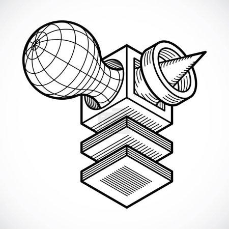 3D design cube shape