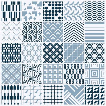 seamless geometric patterns set