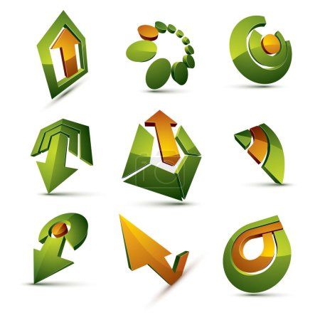 Geometric abstract logos set