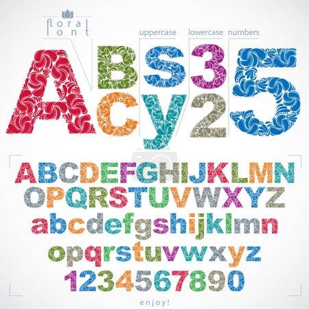 Floral alphabet sans letters