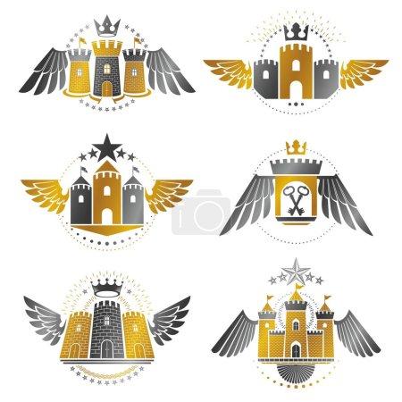 Ancient Bastions emblems set