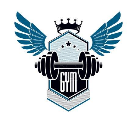 Sport logo for weightlifting gym