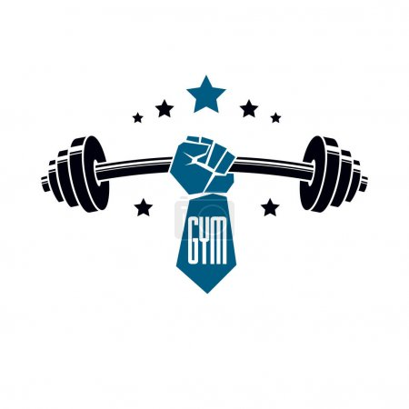 Gym weightlifting and fitness sport club