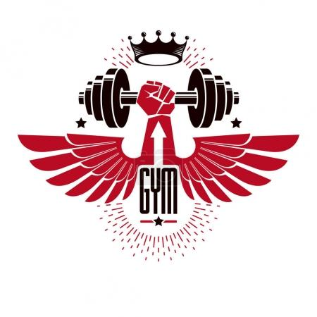 Bodybuilding weightlifting gym logotype
